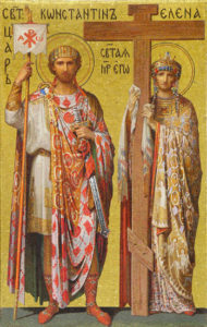 Constantine and Helena Mosaic in Saint Isaacs Cathedral